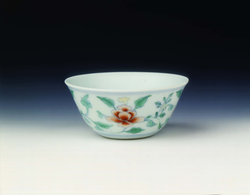 Doucai cup with peonies